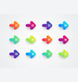 abstract flat colorful gradient arrow bullet point vector image vector image