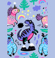 adorable wallpaper in childish style vector image vector image