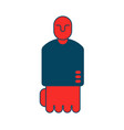 angry boss icon red director isfist business vector image vector image