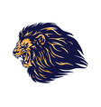 angry wild lion head mascot vector image vector image