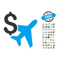 Aviation Business Icon With 2017 Year Bonus vector image