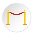 Barrier rope icon flat style vector image