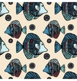 Beautiful graphically ethnic fish vector image