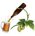 Beer mug hop bottle