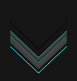 blue neon line grey arrow overlap on dark vector image vector image