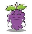 boring grape character cartoon collection vector image vector image