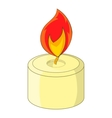Burning candle icon cartoon style vector image vector image