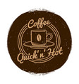 Cafe or coffee shop market label grunge vector image