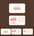 cakes business cards and promotional cards vector image vector image