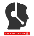 Call Center Operator Eps Icon vector image vector image