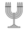 candles support icon outline style vector image