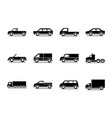 car model truck container pickup container vector image vector image