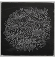 Cartoon cute doodles hand drawn Thanksgiving vector image vector image