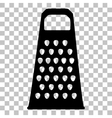 Cheese grater sign Flat style black icon on vector image vector image