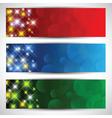 Christmas star banners vector image vector image