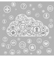 cloud apps vector image vector image