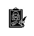 clues black icon sign on isolated vector image vector image