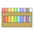 Colored pastel crayon set icon cartoon style vector image vector image