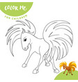 coloring pages farm animals cute horse smiles vector image