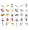country united arab emirates cartoonmono icons in vector image vector image