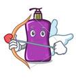 cupid shampo character cartoon style vector image