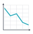 Decline Chart Icon vector image vector image