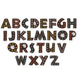 decorative black forest alphabet vector image vector image