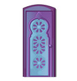 door in oriental style isolated on white vector image vector image