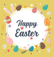 easter eggs happy easter poster vector image vector image