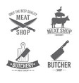 emblems set butchery vector image vector image