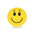 Emoticon style smile yellow face icon vector image vector image