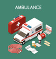 first aid isometric vector image