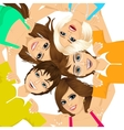 five young happy smiling teenagers vector image