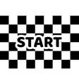 flag auto racing inscription start flat icon vector image