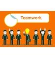 flat design for team work concept vector image