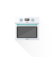 flat style white kitchen oven vector image