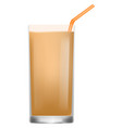 frosty drink icon realistic style vector image