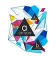 geometric triangle infographics vector image vector image