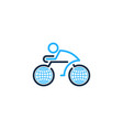 globe bike logo icon design vector image vector image