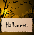 Halloween text frame vector image vector image