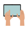 hands with tablet icon image vector image vector image