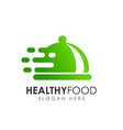 healthy food logo design vector image vector image