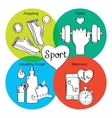 Healthy life concept handdrawn icons of jogging vector image vector image