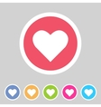 Heart love icon flat web sign symbol logo label vector image vector image