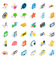 help for seo icons set isometric style vector image vector image