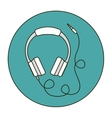 Isolated headphone icon vector image vector image
