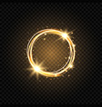 light golden circle banner abstract light vector image vector image