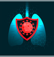 lungs protection from coronavirus covid-19 vector image