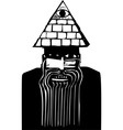 Man with Pyramid Hat vector image vector image