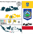 Map of West Nusa Tenggara vector image vector image